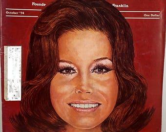 Vintage Saturday Evening Post Magazine, Mary Tyler Moore, October 1974 Edition, Vintage Advertising, Ephemera, Retro Magazine
