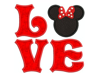 VALENTINE LOVE  Machine Applique Embroidery - Instant Digital Download