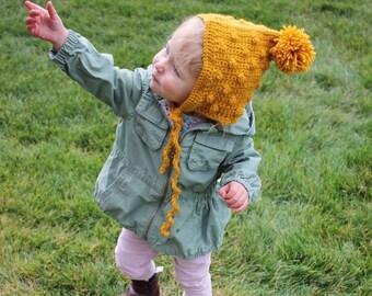 Crochet PATTERN Bonnet - baby bonnet - Crochet PATTERN Bonnet - puff stitch - Snowballs Hat Crochet Pattern - 4 sizes