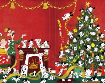 The Hundred and One Dalmatians Christmas Limited Edition Giclée Print