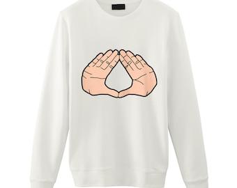 Diamond Hand Print / Fashion Sweatshirt / Tumblr Inspired