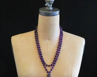 Amethyst & Swarovski Crystal 108 Mala Beads