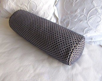 7x20 Navy chenille decorative Bolster Pillow