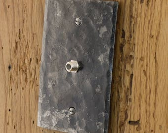 Cable Cover Plate - Hammer Textured Single Cable/Coax Wall Plate