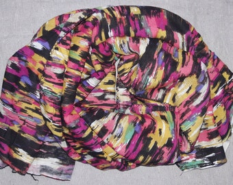Square Scarf Rayon Scarf Indian Scarf Multicolor Scarf