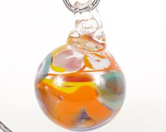 110295 Medium Hand Blown Hanging Art Glass Ball Decorative Ornament