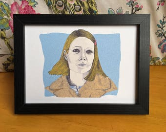 Margot Tenenbaum from The Royal Tenenbaums Illustration Art Print - Wes Anderson