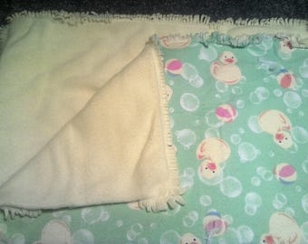 Duck and beach ball baby blanket