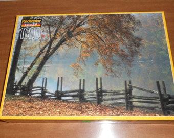 """Kodacolor Puzzle-""""Blue Ridge National Parkway. VA""""-1000 Pieces-NIB"""