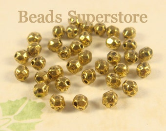 4 mm x 3.5 mm Antique Gold Spacer Bead - Nickel Free, Lead Free and Cadmium Free - 50 pcs