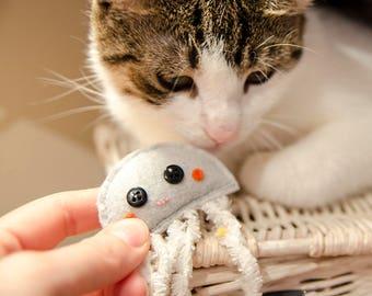 Blushing Jellyfish Cat Toy - catnip toy, gift for cat, unique cat toys, felt cat toy, cat supplies, valerian