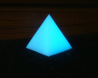 Glowing Blue Pyramid.