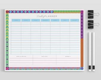 Weekly Planner Printable, Weekly Schedule, 2017 Weekly Planne Printable, 2017 Weekly Planner Book, Weekly Planner Kit A5/A4/8.5x11 PDF