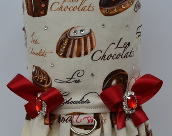 Dog Harness Vest - Les Chocolats BonBon with Bling Upgrade