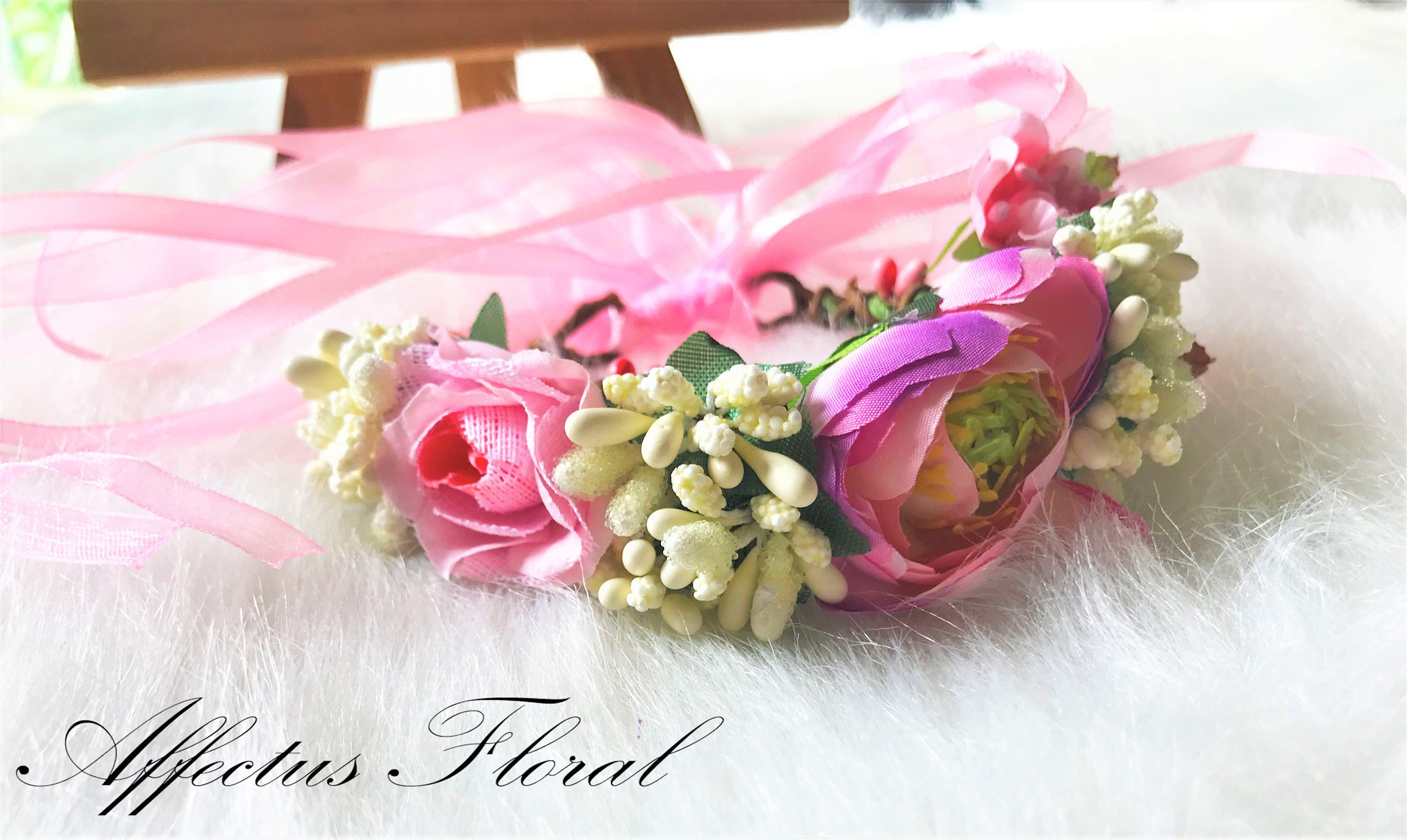 Bridesmaid Wrist Corsage Wrist Corsage Pink Corsage Wedding