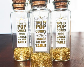 POP Champagne and celebrate! Sparkling Party invitations or favors