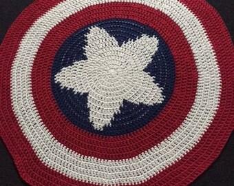 Crochet Captain America Shield Blanket