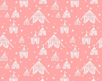 Calliope - Big Top in Pink by Maude Asbury for Blend Fabrics