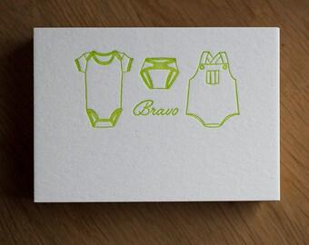 Carte de félicitation pour naissance
