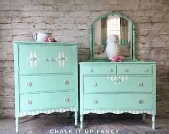 Chest and dresser set