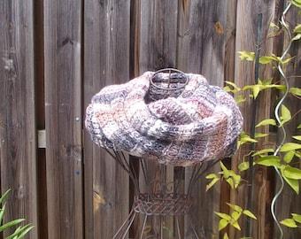 Mixed wool long scarf