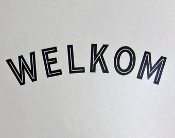 Classic Welcome Door Sticker