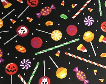 Halloween Candy Cotton Fabric BTY