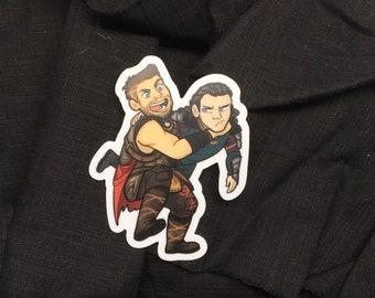 """GET HELP Thor Ragnarok Loki 3"""" vinyl sticker"""