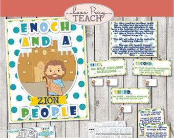 LDS Primary 6 Lesson 7 Enoch And A Zion People Helps Include Poster Scripture Maze Board Activity Coloring Page Handout