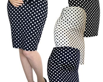Maternity Pregnancy dot pencil skirt