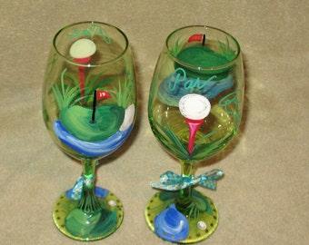 Golf wine glasses