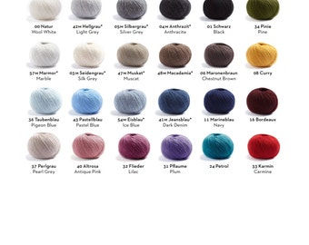 Merinowool + Cashmerewool with color selection