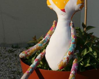 Decorative blanket - RouxDoudou giant yellow - OOAK doll