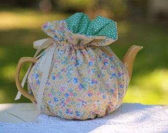 Spring Yellow Wrap Tea Cozy, ready made