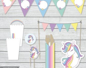 Printable party - Festa unicorno - Download digitale