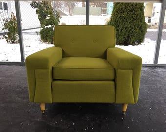 Mid Century Green Kroehler Club Chair