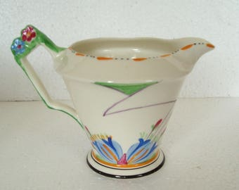 Vintage Art Deco  James Kent Flower Handle Cream Jug  Made in England
