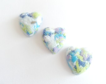 Eco Friendly Heart Seed Bombs -Plantable Paper With Wildflower Seed Balls - Water Lily Watercolor Mix
