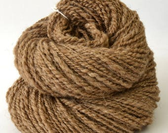 Handspun Yarn - Silk / Manx Loaghtan Wool -  1.75oz, 172yd, WPI 17