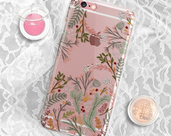 Floral iPhone 6 case Transparent Clear iPhone 6s case Clear iPhone 7 plus case iPhone 6s plus case iPhone 5S Case Clear iPhone 7 Case