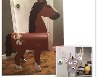 Deer mailbox or Horse Mailbox