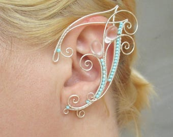 Pair of elf ear cuffs Waterfall