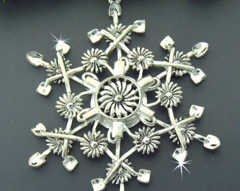Gardener's SnowWonders® Snowflake Ornament/Pendant, Gardening Decoration, Flower Ornament, Window Decoration, Window Accents. Home Decor