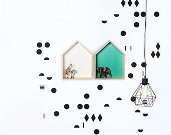 Decorative wall decals Polka