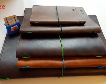 leather journal cover Leather book cover Moleskine cover Notebook cover Travellers gift Custom Junk Journal cover A5 Refillable sketchbook