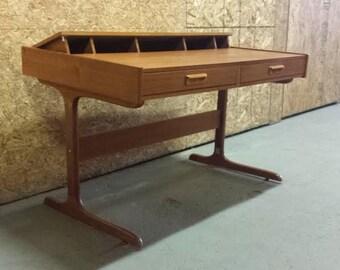 Danish Modern Teak Pop-Up Desk