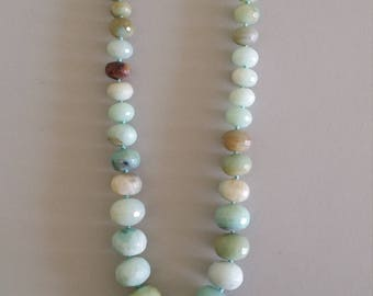 Amazonite Necklace with Detachable Pendant