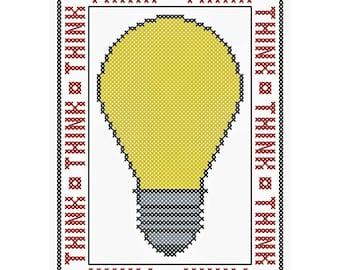 THINK - Original Cross Stitch Chart