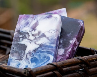 Black Raspberry Vanilla Glycerin and Shea Butter Handmade Soap // Gifts for Her