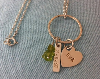New Linked by Love Birthday Pendant